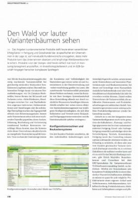 Königsdisziplin Variantenmanagement. Schweizer Maschinenmarkt 22/14