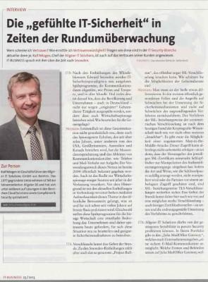 Interview Ralf Nitzgen, Geschäftsführer Allgeier IT Solutions
