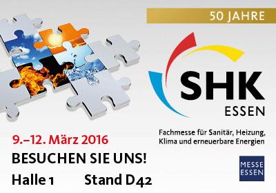 Logo SHK Essen: pds zeigt die neue Version ihrer cloud- und app-fähigen Handwerkersoftware auf der Fachmesse SHK Essen 2016