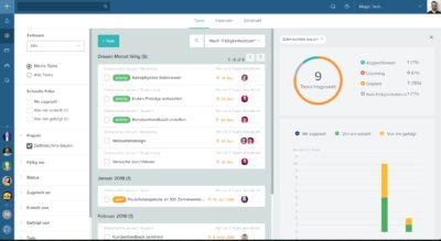 Taskworld bietet Unternehmen und deren prozessbeteiligten Partnern oder Kunden über eine Web-basierte Collaboration-Plattform ein umfassendes Spektrum an Features, um die Kommunikation, Aufgaben, Projekte und Workflows komfortabel und individuell zu steuern.