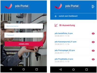 Screenshot: Jederzeit die Auswertungen und Kennzahlen im (Zu-)Griff: pds Portal