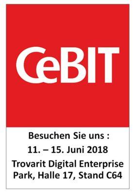 CeBIT Logo mit VLEX Standnummer