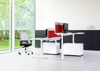 Das Leistungsspektrum von REISS Büromöbel umfasst innovative und ergonomische Büromöbelsysteme  wie Steh-Sitz-Arbeitsplatz-, Kommunikations-, Akustik- Stauraum- und Empfangslösungen.