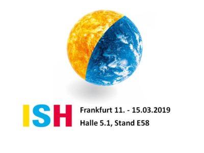 pds auf der ISH 2019 in Halle 5.1, Stand E58