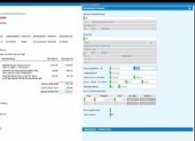 Links der Beleg, rechts die Erfassungsmaske: Mit künstlicher Intelligenz werden sämtliche buchungsrelevante Details erkannt – es folgt ein digitaler und workflowgestützter Prüf- und Freigabeprozess. (Bild: pds GmbH)