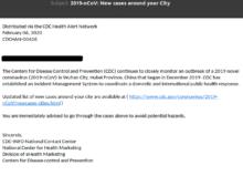 Screenshot E-Mail: Phishing- und Malware Attacke mit Link zum anklicken